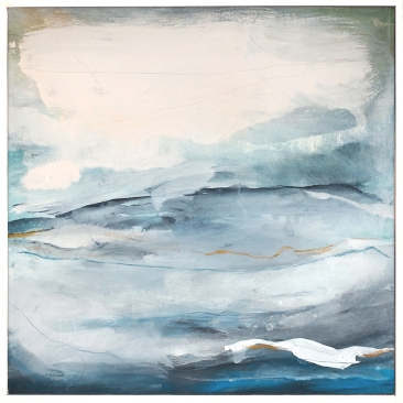Beyond the Waves I, 72 x 72cm, Mixed Media, SOLD