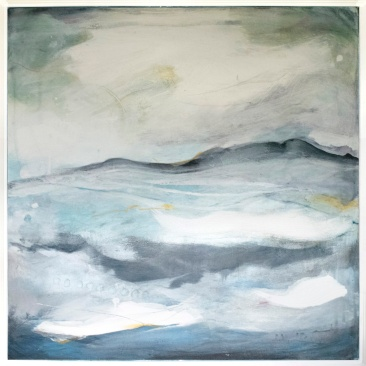 Beyond the Waves II, 72 x 72cm, Mixed Media, SOLD